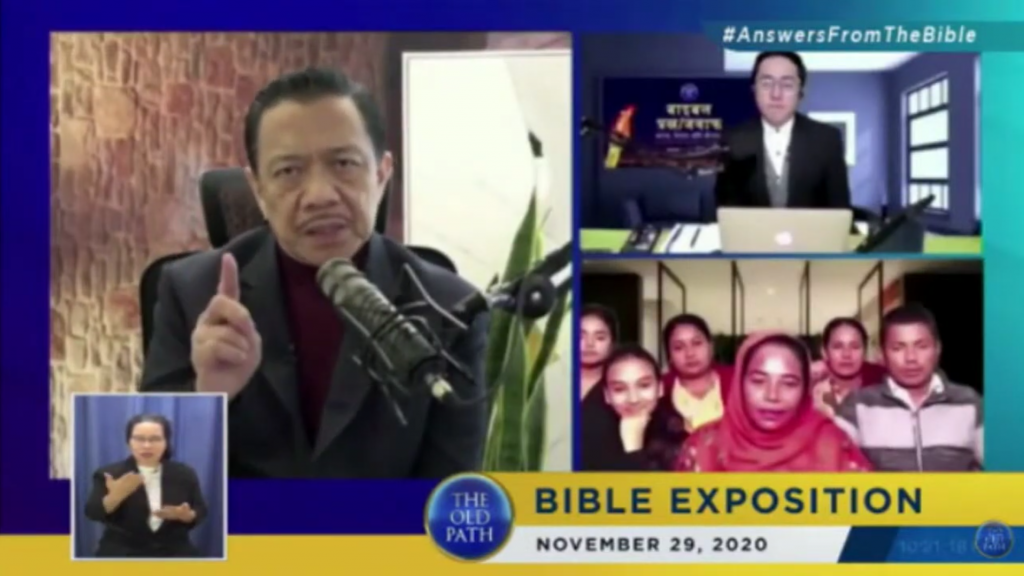 The Old Path, Ang Dating Daan Bible Exposition in India, Nepal and Sri Lanka